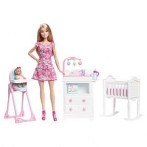 mattel barbie babysitter et accessoires comparer avec. Black Bedroom Furniture Sets. Home Design Ideas