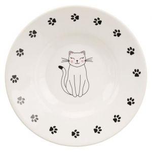 Trixie Écuelle céramique pour races à museau court - 0,2 L - Ø 15 cm - Blanc - Pour chien
