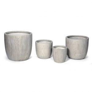 Pot rond moyen LIA S/4 gris beige 54,24 L