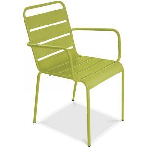 Oviala Chaise de jardin en métal - Vert