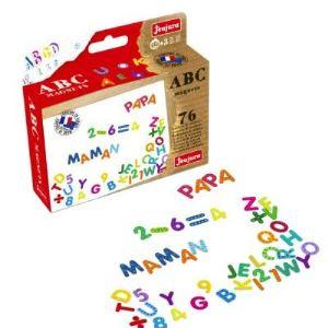 Jeujura Magnets ABC et chiffres pour tableaux en bois