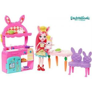 Mattel Playset Enchantimals La Cuisine du Lapin