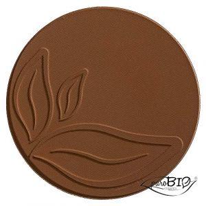 PuroBio Cosmetics Resplendent Bronzer - 04 Marrone Fango (mate) - Refill - 9 g
