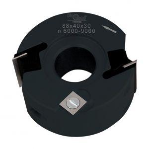 Diamwood Platinum Porte-outils de toupie à feuillurer et profiler D. 90 x Al. 30 x Ht. 40 mm Z 2 et V 1+1