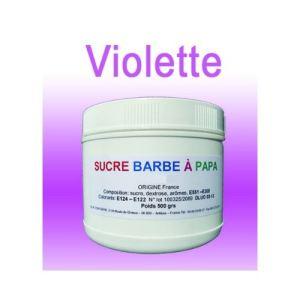 Azur Confiserie Sucre à barbe à papa Violette (500g)