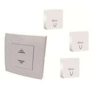 Otio Commande centralisée & 3 récepteurs CMR-8111 - Pack commande centralisée sans fil & 3 micro-récepteurs encastrables télécommandés CMR-8111 - Compatibilité : émetteurs et récepteurs pour fermeture de la gamme - Fréquence de transmission radi