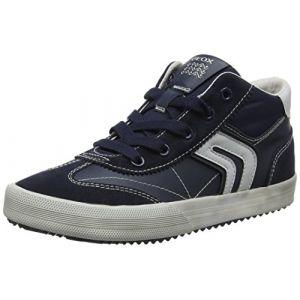 Geox Alonisso C, Baskets Hautes Garçon, Bleu (Navy/Grey), 34 EU