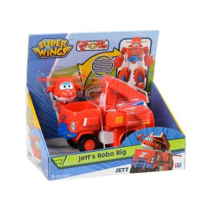 Auldey Véhicules transformables en robots 18 cm + 1 figurine Jett - Super Wings