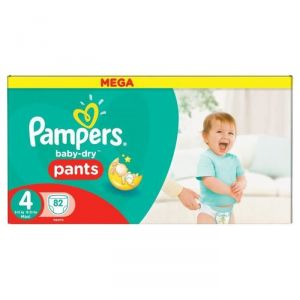 Pampers Baby-Dry Pants taille 4 Maxi 8-15 kg - 82 couches