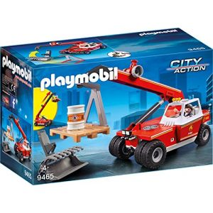 Playmobil 9465 - Pompiers de Chargeur Télescopique