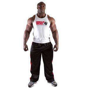 Gorilla wear Gym Shirt Homme - Débardeur Classique Stringer - S à 3XL Bodybuilding Muscle Fitness Muscle Shirt Blanc XXL