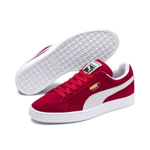 Puma Suede Classic+ - Baskets mode - Mixte Adulte - Rouge (Red/White 05) - 46 EU