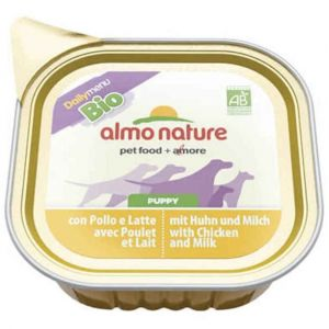 Almo Nature Pâté pour chiens nature Daily Menu Bio Puppy Chicken & Milk