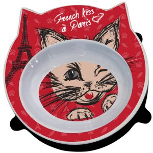 Enesco Animalis - Gamelle French Kiss à pour Chat Tête de Chat pour Chat
