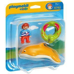 Playmobil 6762 - 1.2.3 : Garçon avec dauphin et bouée