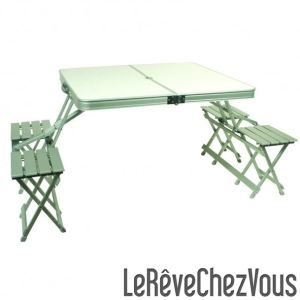 Midland Garden 696720 - Table pliante type valise (162 x 82 x 73 cm)