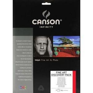 Canson 200004876 - Pochette 9 feuilles Infinity Discovery PackFineArt A4