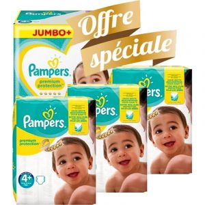 Pampers Couches - Taille 4+ new baby premium protection - 250 couches bébé