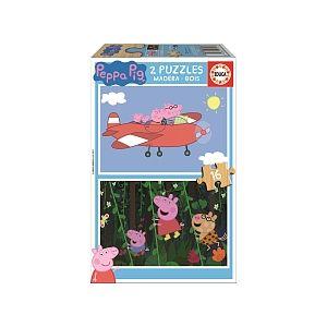 Educa Peppa Pig - 2 puzzles 16 pièces en bois