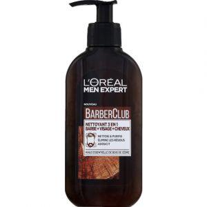 L'Oréal Nettoyant 3 en 1 barbe+visage+cheveux - BarberClub - Le flacon de 200 ml