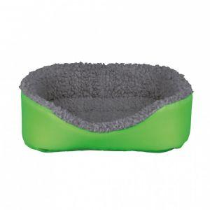 Trixie Lit douillet pour petits animaux - 35 x 28 cm, gris/vert