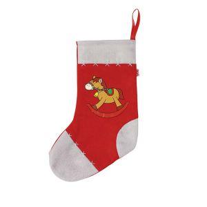 Goki Chaussette de Noël en feutre : Cheval à bascule Lucile