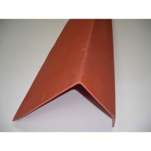 McCover Profil de rive toiture tuile PVC L 188 cm - Coloris - Terre cuite, Largeur - 38 cm, Longueur - 188 cm Terre cuite - 188 cm / 38 cm /
