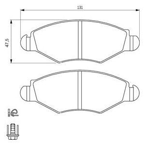 Bosch BP376 - 4 Plaquettes de frein Avant