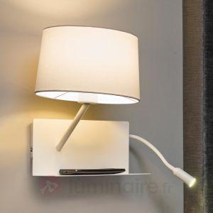 Faro 28415 HANDY - Lampe applique blanche avec lecteur LED gauche