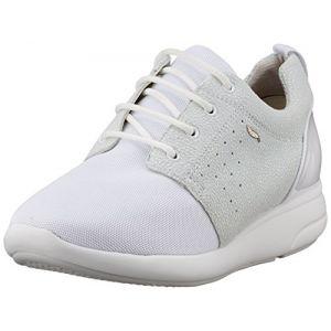 Geox D Ophira A, Sneakers Basses Femme, Blanc Cassé (Off White/Off Whitec1244), 41 EU