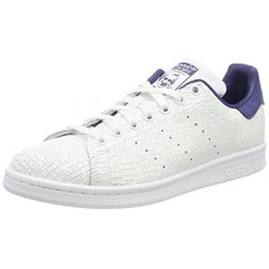 Adidas Stan Smith, Baskets Femme, Blanc (Footwear White/Footwear White/Noble Indigo 0), 39 1/3 EU
