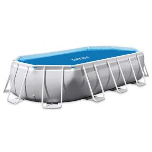 Intex Bâche à bulles renforcée pour piscine tubulaire ovale 6,10 x 3,05 m
