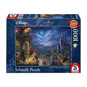 Schmidt Spiele Non Thomas Kinkade, Disney la Belle et la Bête, Danse Au Clair de la Lune, 1000 Pcs, 59484