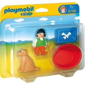 Playmobil 6796 - 1.2.3 : Petite fille avec chien