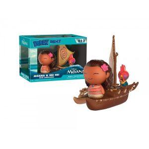 Funko Figurine Disney Vaiana & Hei Hei avec catamaran Dorbz Ridez (18 cm)