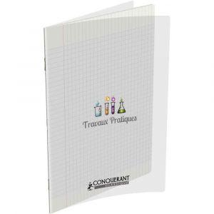 Conquerant 400002792 - Cahier Classique T.P. piqué A4 couv. PP incolore 96p./48 feuilles 90/120g/m², Séyès/uni