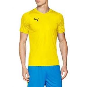 Puma Liga Core Maillot Homme, Cyber Jaune Noir, FR : M (Taille Fabricant : M)