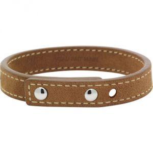Rochet LC1031323 - Bracelet en acier et cuir veau pour homme