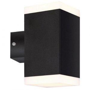 Lumihome Applique LED TWIN carrée noire - 1000 lumens - Blanc 4000K