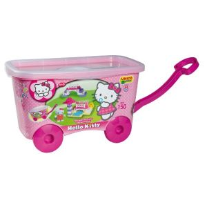 Androni Giocattoli Coffre de briques à roulettes Hello Kitty 150 pièces