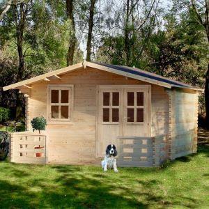 Chalet et Jardin Le Tournesol - Chalet de jardin en bois avec double porte et terrasse 13,96 m2
