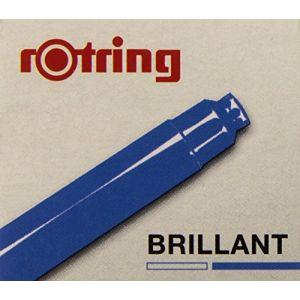 Rotring 6 cartouches d'encre pour Stylo - Bleu brillant