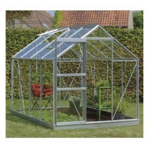 ACD Serre de jardin en verre trempé Ivy - 5m², Couleur Noir, Base Avec base - longueur : 2m57
