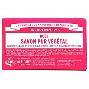 Dr bronner's Savon pur végétal rose - 140 g