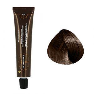 Kin Cosmetics Coloration permanente sans ammoniaque aux 5 huiles 5.50 : Châtain Clair Brun Chocolat Sans ammoniaque, Crème 60ml