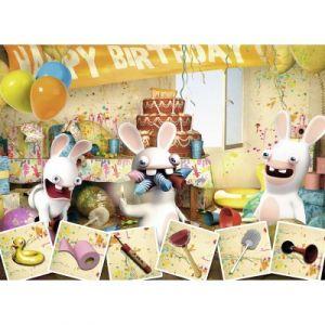 Nathan Les Lapins Crétins Joyeux anniversaire - Puzzle 45 pièces