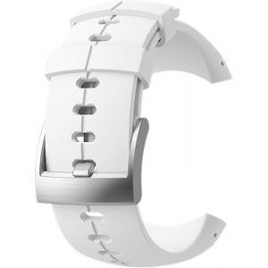 Suunto Bracelet de Remplacement Original pour Toutes les Montres Sparten Ultra, Silicone, Longueur: 24,5 cm, Largeur: 25 mm, Blanc/Argent, Cheville de Montage Incluse, SS022690000