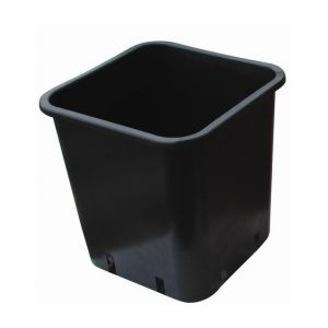 Cis Pot carré noir 7x7x6.5 - 0,24L