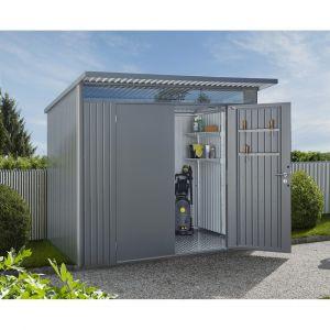 Biohort Abri de jardin en métal AvantGarde Taille XL Double Portes Gris Quartz