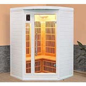 Image de France Sauna Soleil Blanc 2/3 - Sauna cabine à infrarouge pour 2/3 personnes